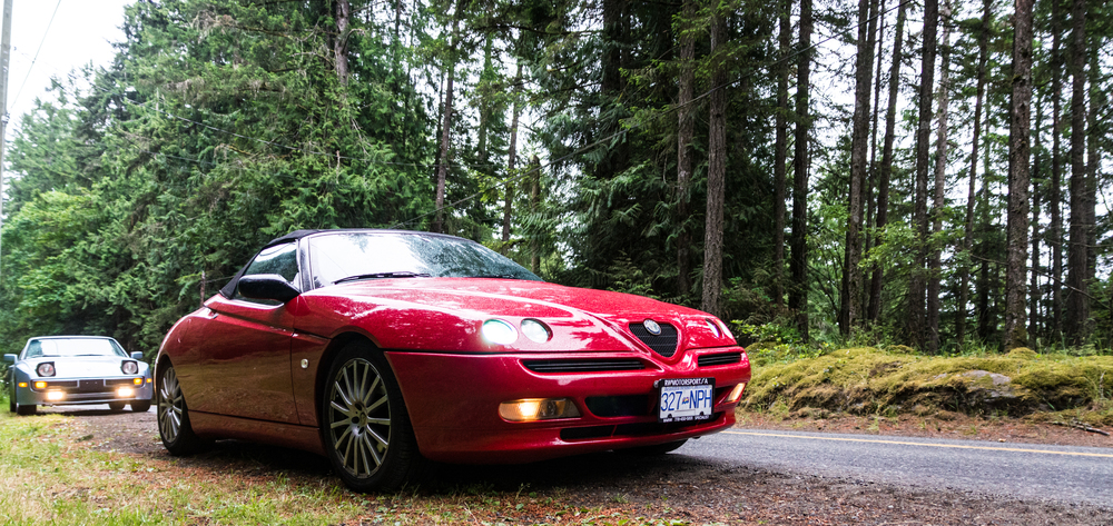 Spent some time driving around Vancouver Island with this gorgeous Alfa GTV Spider