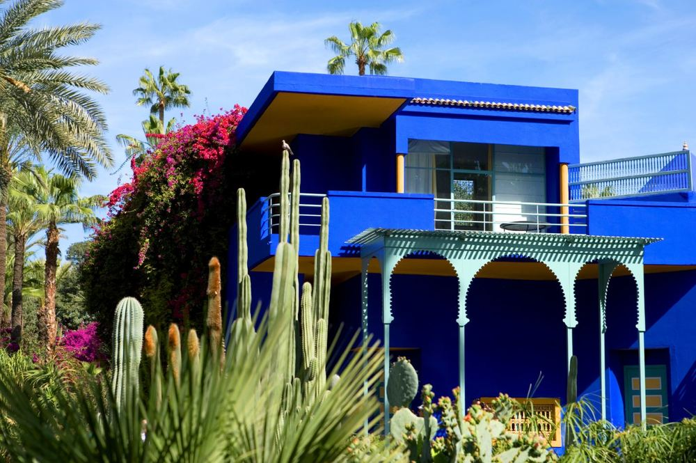 The YSL house in Marrakesh