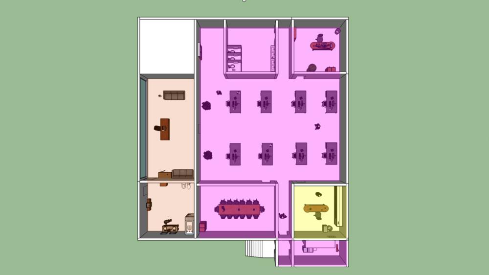 Hitman (2016) - Document de Level Design pour une mission tutoriel fictif dans Hitman (IO Interactive).Modèle 3D fait dans SketchUp.