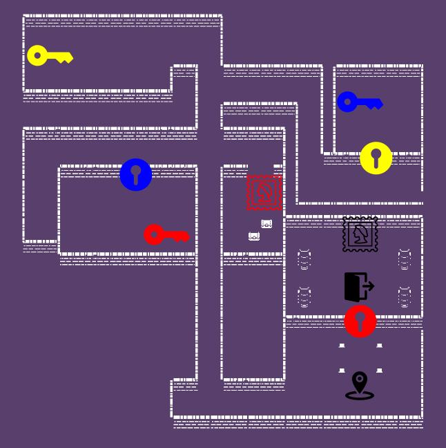 Tangle Lake - Document préliminaire de Level Design pour 2 niveaux dans ce jeu Bitsy. Conçu dans Unity (Tile Palette).