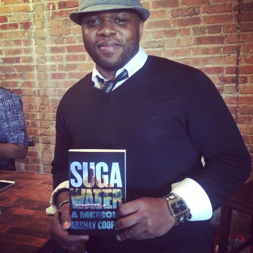 Arshay Cooper, author of Suga Water at his book launch party in May (Chicago, IL)