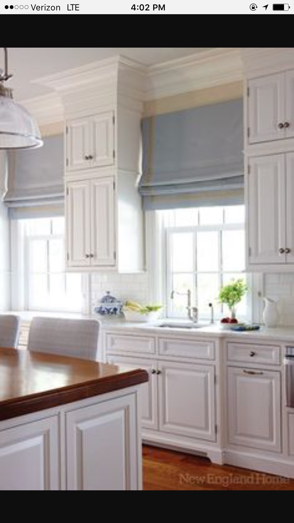Add a Pop of Color to a White Kitchen with a Roman Shade — Sew ...