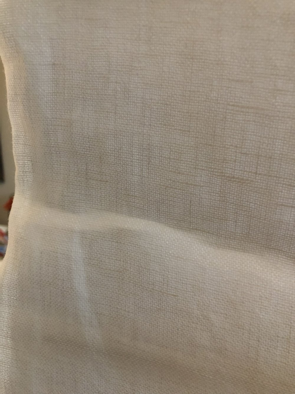 Linen! Ugh! It doesn't look pretty for Roman shades !