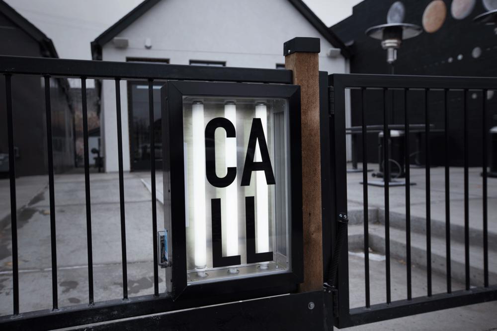 Call Denver Restaurant Branding_Custom Backlit Sign