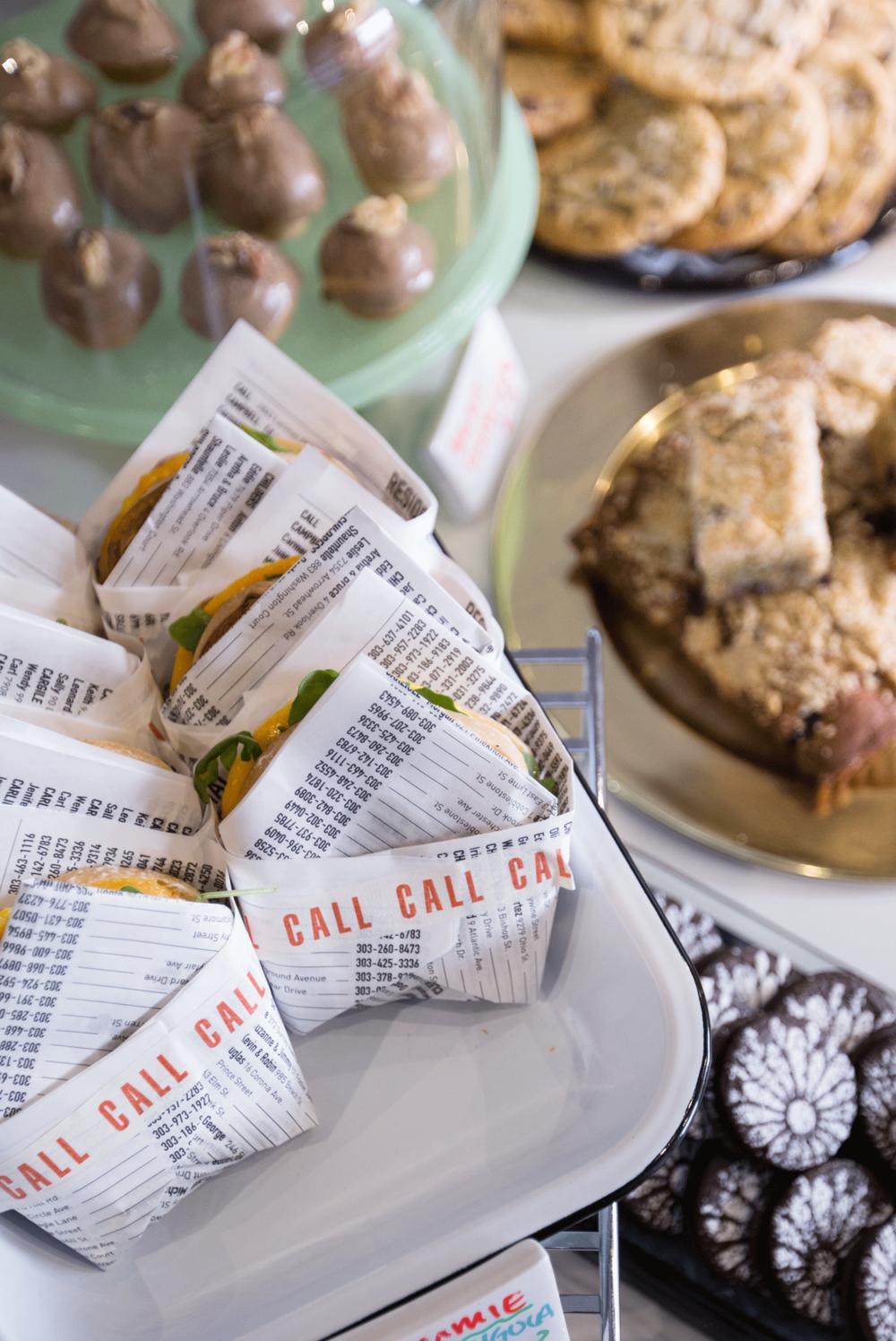 Call Denver Restaurant Branding_Custom Butcher Paper and Tape