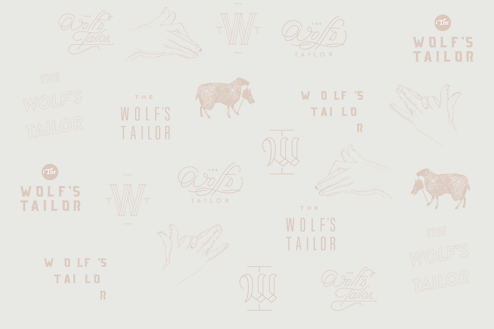 The Wolf's Tailor Custom Branding Illustrations