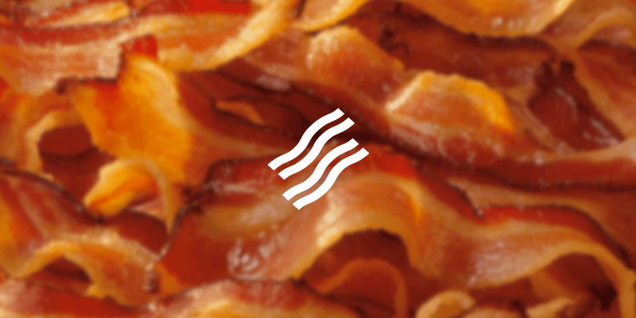 bacon icon on a bacon background