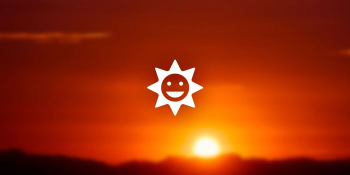 happy sun icon
