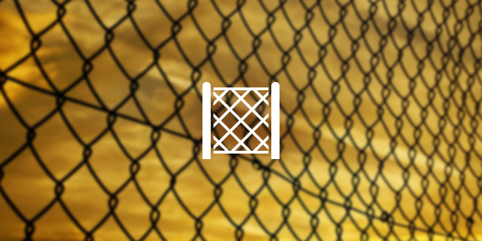 chain-link fence icon