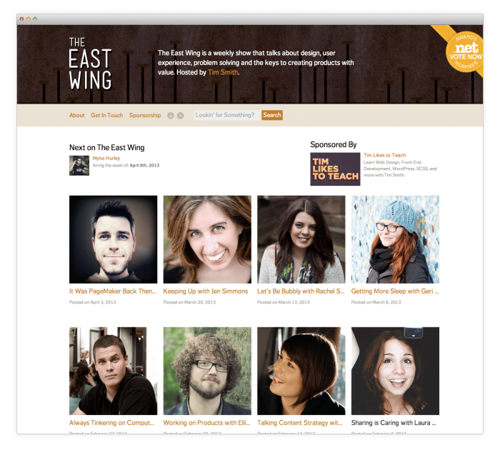 theeastwing.net screenshot