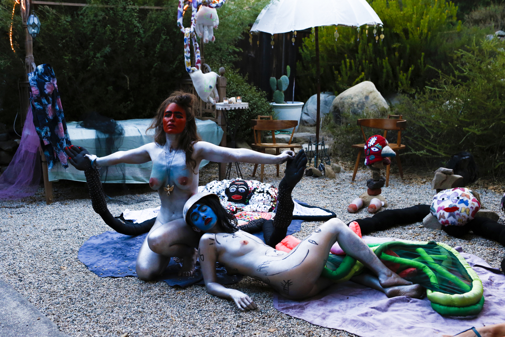 Artist As Muse in Ojai with   Buckley  . Photo by Nitsa Citrine.2015.