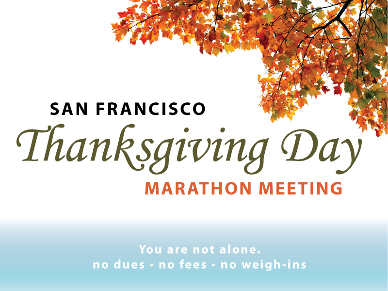 thanksgiving day marathon overeaters anonymous sf