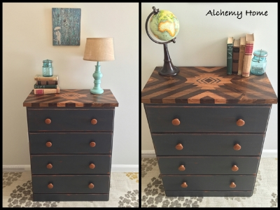 Southwestern stained dresser