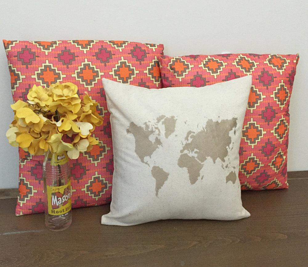 decorative throw pillows world map gold pillows decorative pillows map fabric glam pillow cover home decor