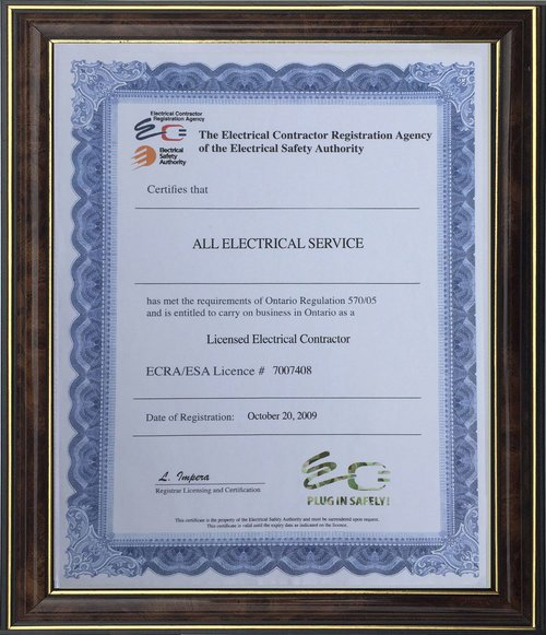 Electrician license