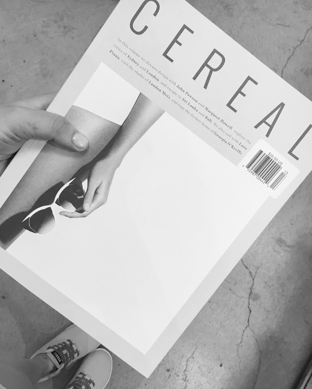 I kind love well-designed indie magazines and I had to get it to add to my collection of now ... a whole three magazines.   https://readcereal.com