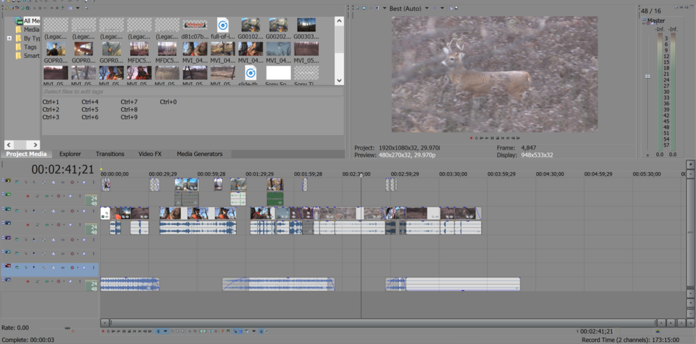 Sony Vegas Pro is a great editing software for beginners.