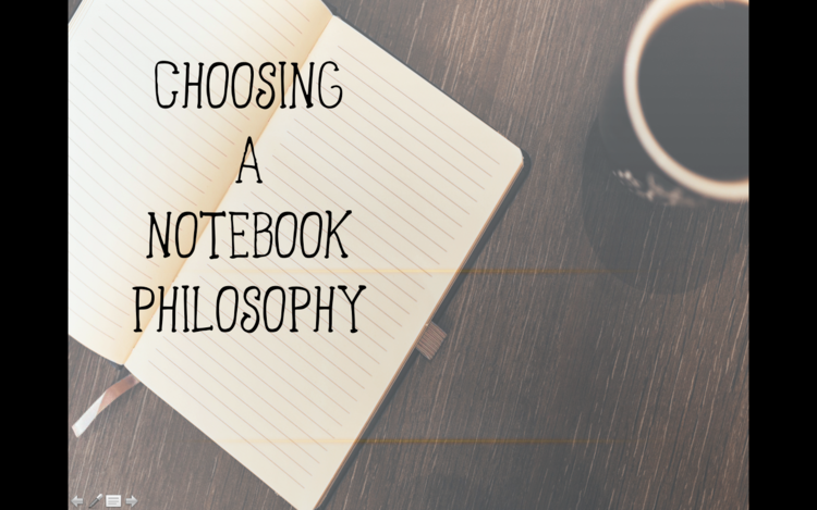 Click on the photo to read my blog article about Writer's Notebook philosophies.