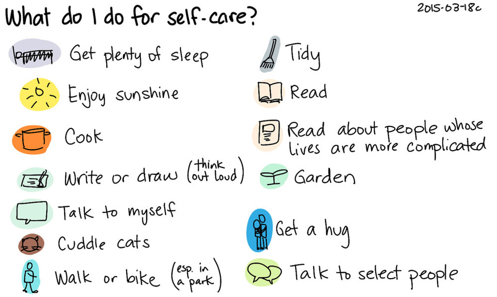 What's on your holiday break to-do list for SELF-CARE?  What are you planning to do to take care of you?