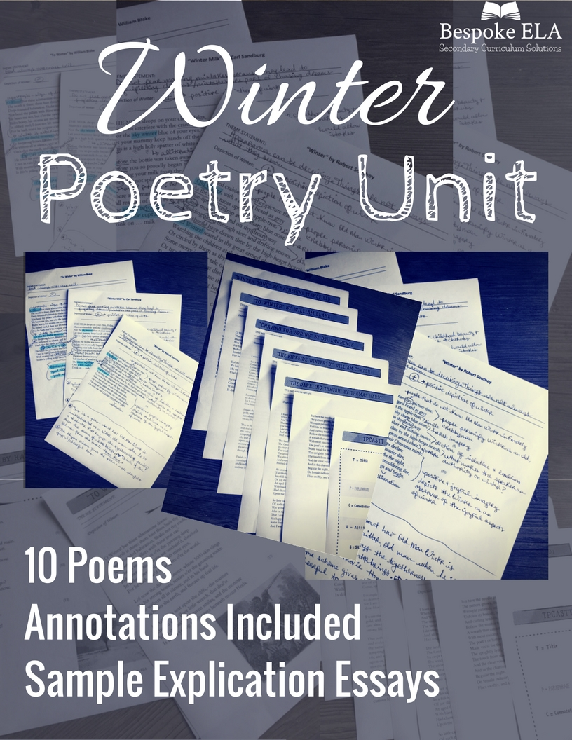 Click on the image to purchase the Bespoke ELA Winter Poetry Unit!