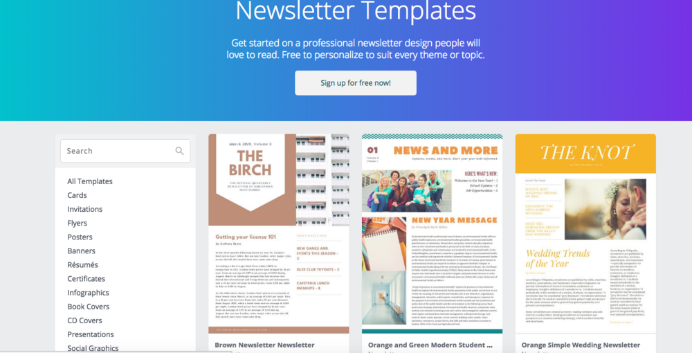 do you send out newsletters to parents faculty andor students at any point during the school year canva has super easy to follow templates to create