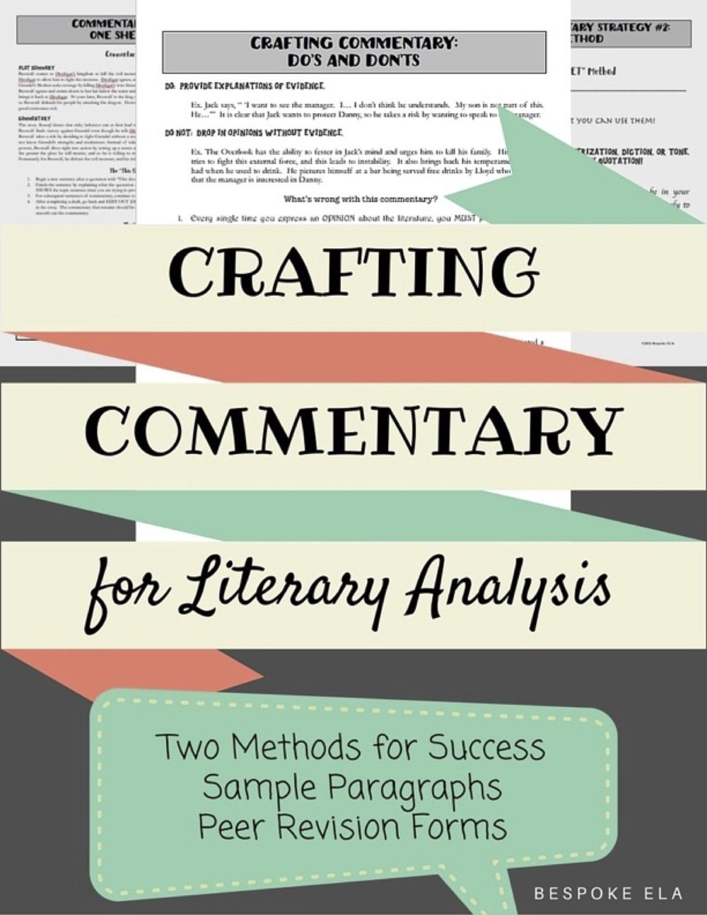 Commentary essay topics