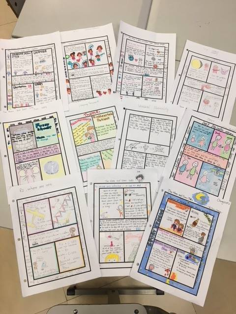 One-Pagers by the Students of Christy Willett (using my set of free templates you can    get here   )
