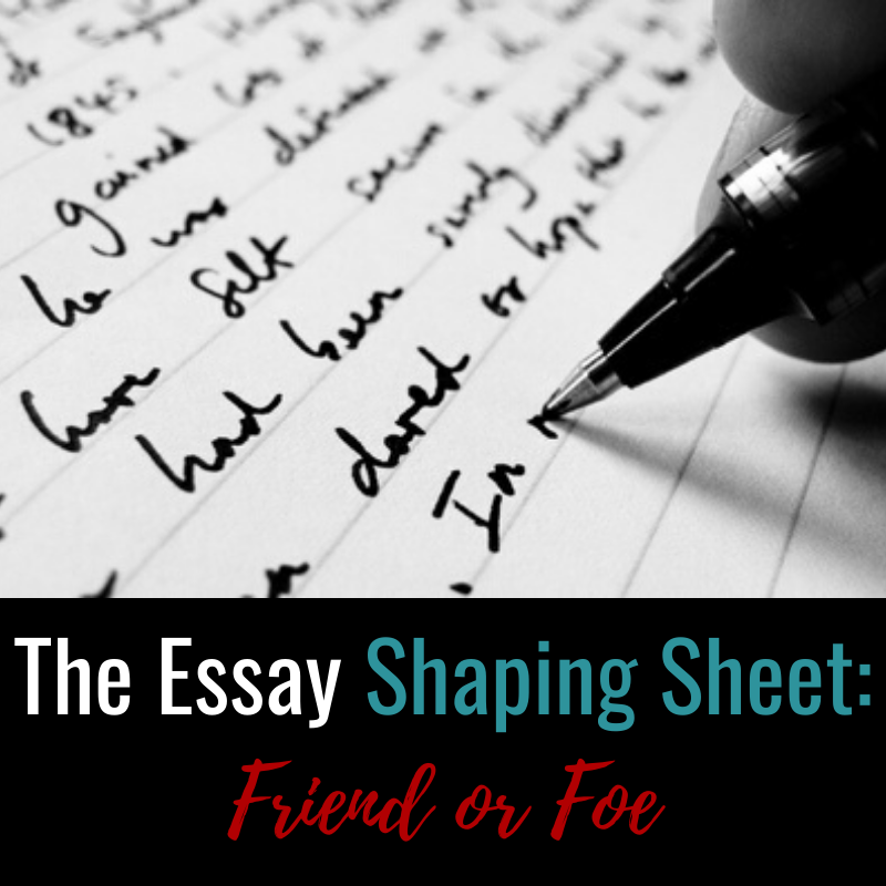 shaping an essay Here is an example from john gage's the shape of reason in which the toulmin model as a basis for structure and organization we might organize our essay in the following manner.