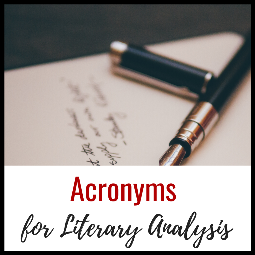 acronyms for literary analysis  a comprehensive list of strategies  u2014 the bespoke ela classroom