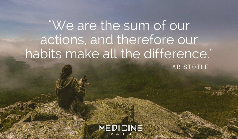 Medicine Path Aristotle Quote Wisdom Habits