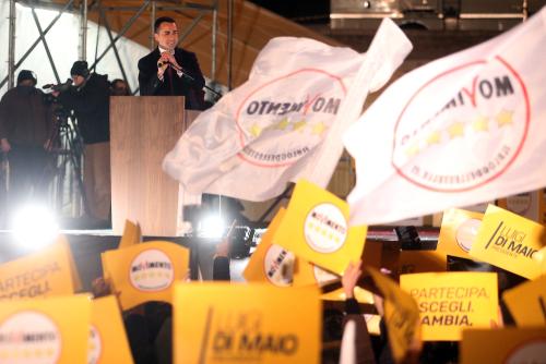 Luigi Di Maio, leader of Italy's Five Star Movement.