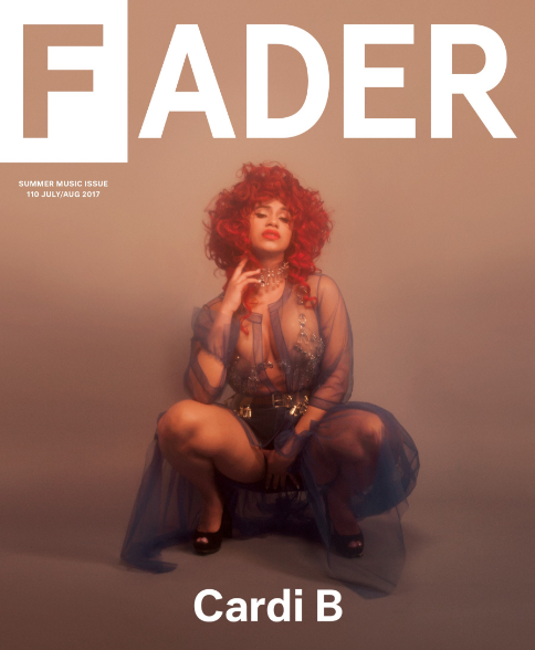 Cardi B - covers the music summer issue of FADER magazine. The Love & Hip-Hop star opened up about her new relationship, her artistry, and even money struggles. Check out some of her spread below and interview.