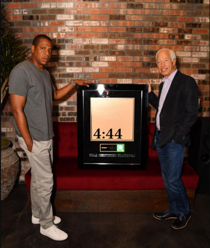 Jay-z  - becomes the first hip-hop artist with the most platinum solo albums. He has been awarded 13 platinum albums with his latest 4:44 being his 13th in less than a week after it's debut.