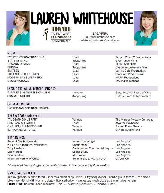 resume lauren whitehouse