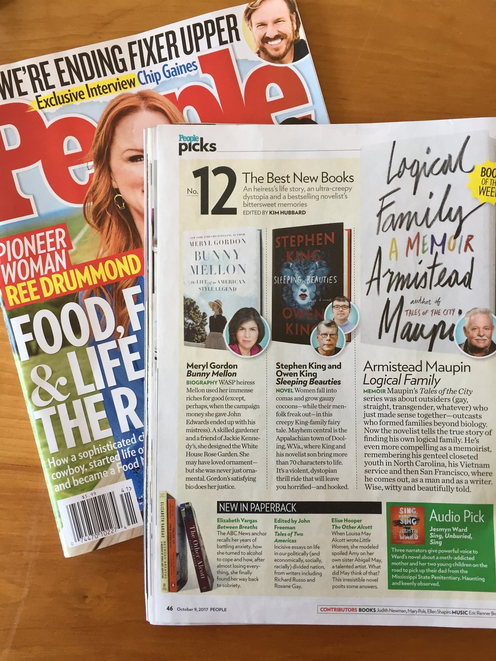 "People Magazine calls The Other Alcott ""irresistible"" (10/9/2017)."