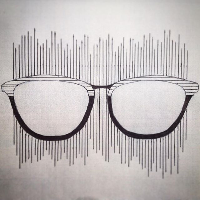 What I tend to do in my spare time... Another inspired by my surrounding pen drawing. My take on an Oroton frame shape 👓✒️ #drawing #pendrawing #design #glasses #glassesdesign #style #oroton #lines #stripes #specs #inspired #optics #optical