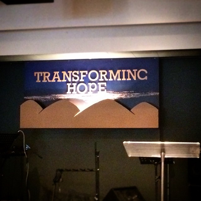 Designed for my church sorry for the bad photo, it's actually 3D with a light in the middle shining up onto to a picture of Christchurch as viewed from the port hills. #design #graphicdesign #porthills #christchurch #transforminghope #hope #workingtogether