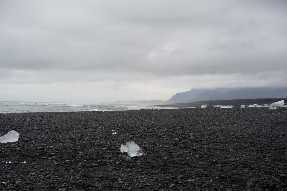 """Ice beach"" near the Jökulsárlón Glacier Lagoon"