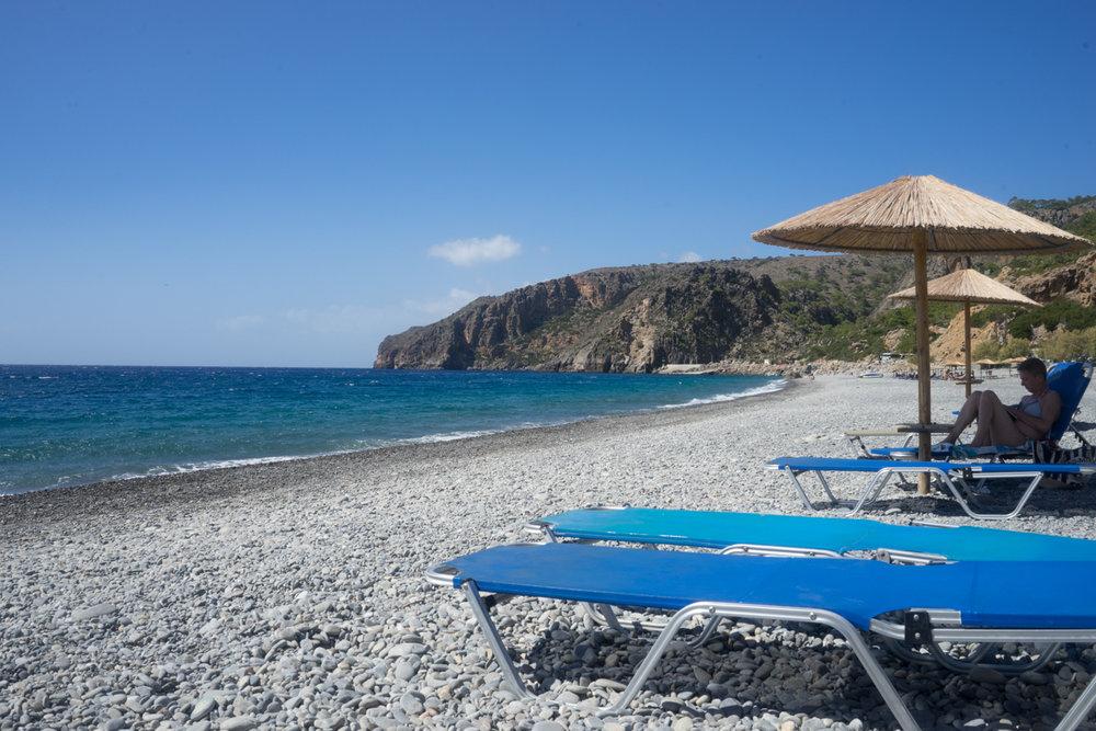 The beach in Sougia