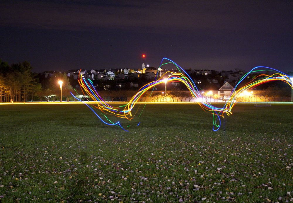 Messing around with long exposures in the middle of campus.