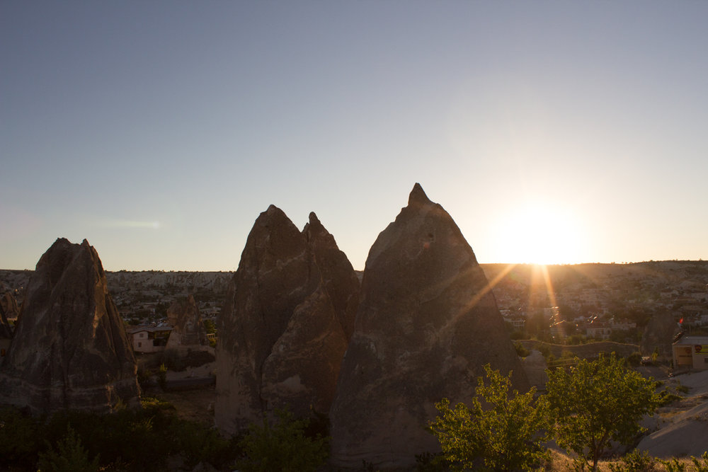 Cappadocia, an area in Central Turkey is known for it's weird shaped rocks and 'fairy chimneys'.
