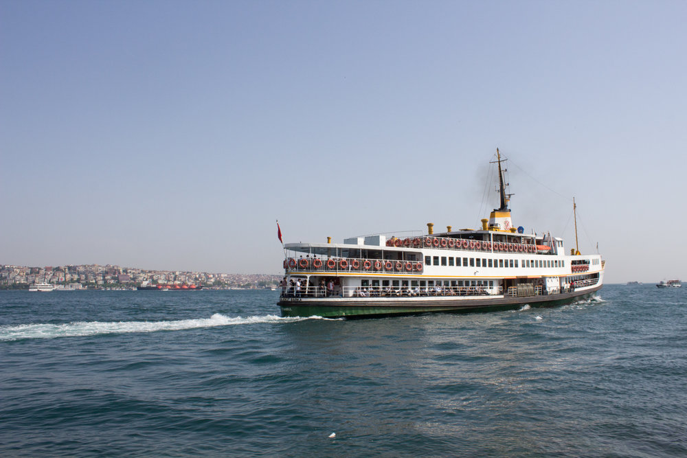 A ferry on the Bosphorus letting off some steam.