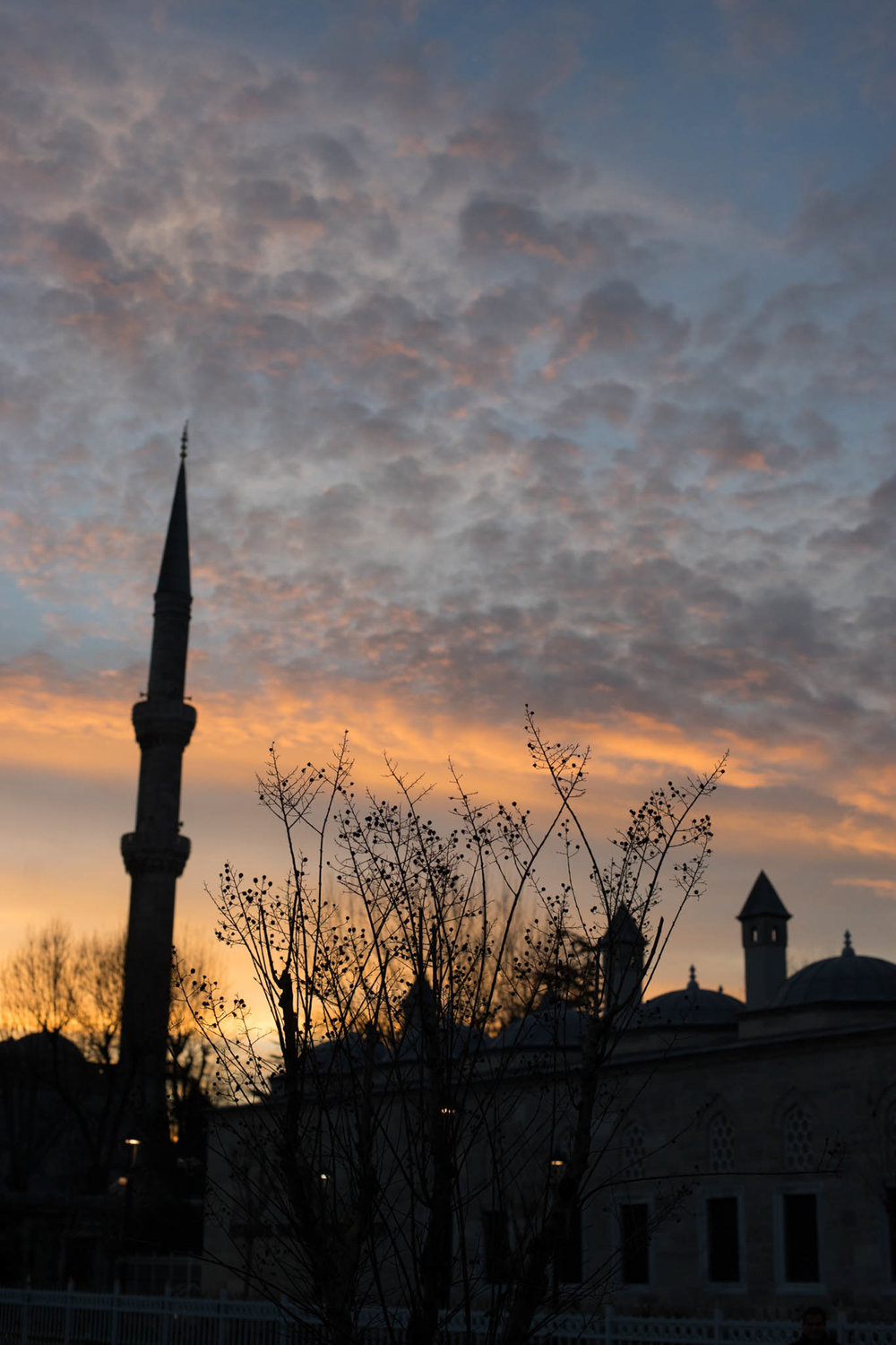 Sunset around the famous, Sultanahmet neighborhood.