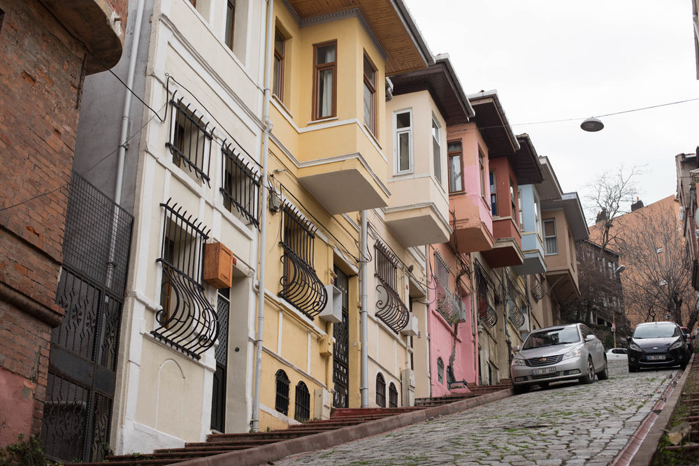Fener/Balat is one of Istanbul's more conservative areas, also filled with colorful houses.