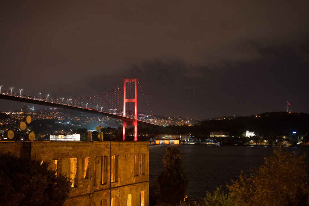 Back in Europe in Ortaköy, a neighborhood next to the Bosphorus Bridge.