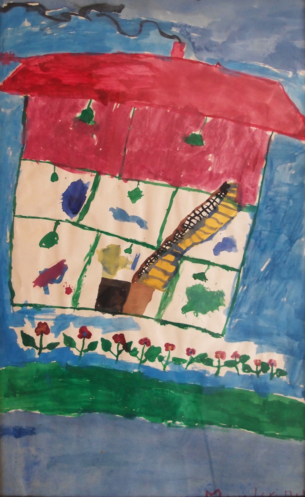 House Painting , watercolour on paper, 1986