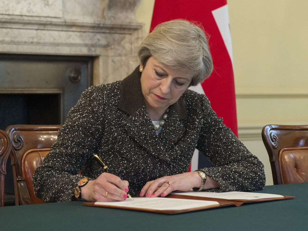 PM Signs Article 50 Letter