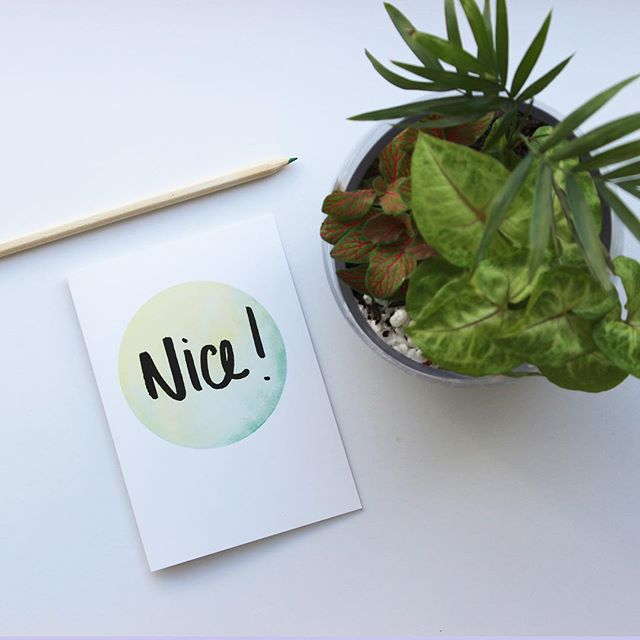 What a beautiful day this turned into! #melbourne #madeinmelbourne #nice #watercolour #brushlettering #etsy #etsycards #plants