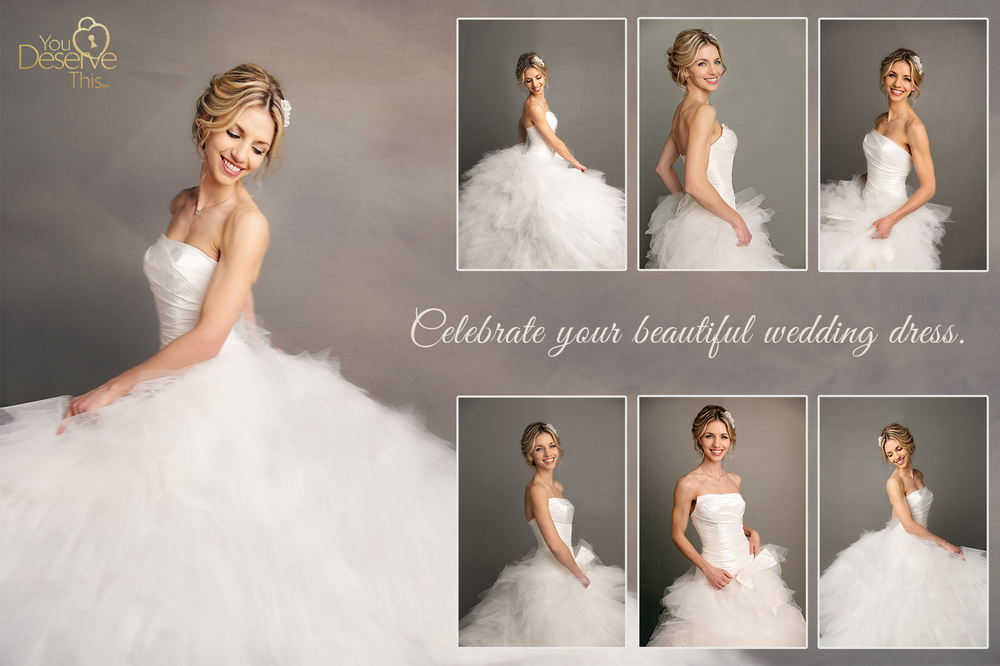 A beautifully styled Rock the Dress, Glam the Dress, fashion magazine styled photoshoot is just the occasion to Cherish your Wedding Dress. How do you dream of being photographed? youdeservethis.com