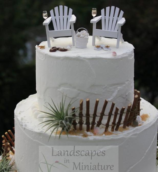 5293a7fe0 FANTASTIC  Beach Themed Cake Topper